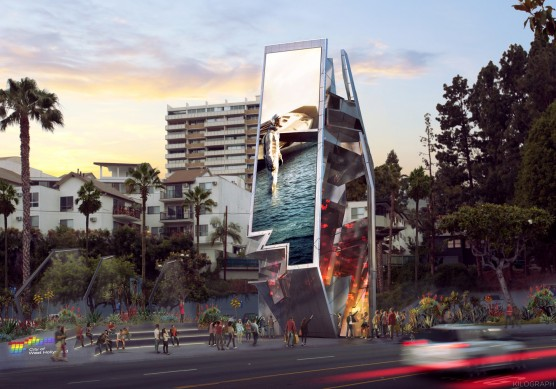 Orange Barrel Media + Tom Wiscombe Architecture + MoCA – West Hollywood Belltower / Source: City of West Hollywood